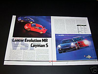 MITSUBISHI TURBO VS PORSCHE CAYMAN S TEST ARTICLE