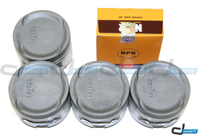 Plymouth Eagle Mitsubishi Turbo 2.0L Pistons w/ Rings