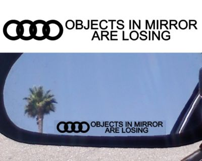 MIRROR DECAL  AUDI R8 S8 A8 S6 A6 S4 RS4 A4 A3 TT TURBO