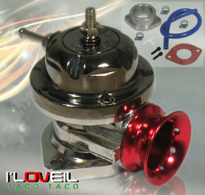 UNIVERSAL RED JDM TURBO RSTYPE BOV BLOW OFF VALVE KIT
