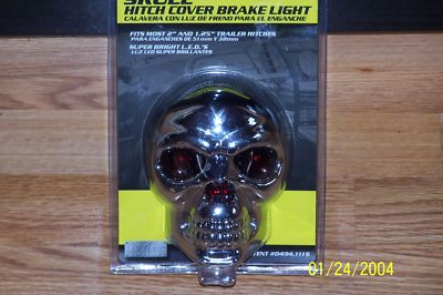 SKULL HITCH COVER PlugBRAKE LIGHT by BULLY