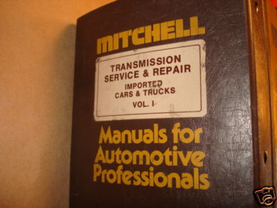 Mitchell import car truck transmission manual thru 1976