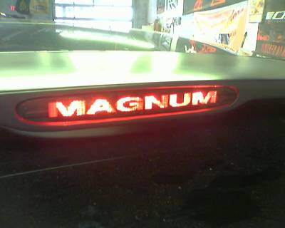 Magnum 3rd Brake light cover Decal SRT 05 06 07 08