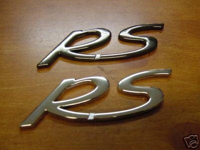 "PORSCHE 911 930 CARRERA TURBO 996 998 ""RS"" EMBLEM"