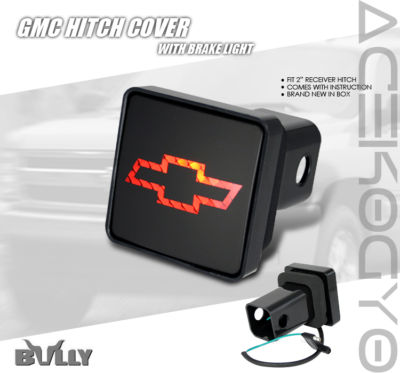 BULLY CHEROLET LOGO HITCH COVER w/BRAKE LIGHT SUBURBAN