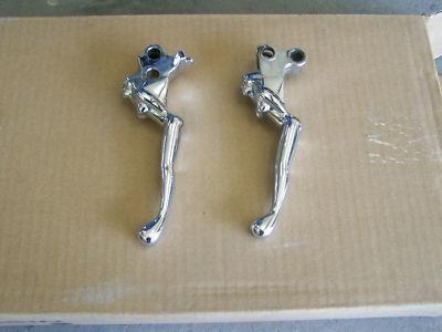 keryocken chrome silhouette brake and clutch lever