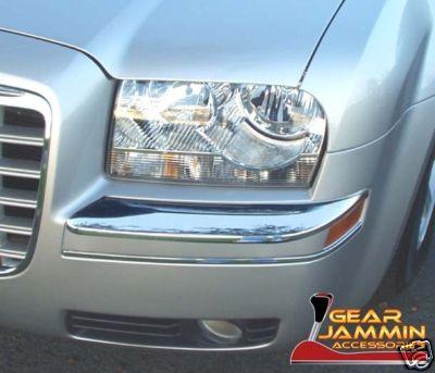 0508 Chrysler 300 300c Chrome Front Bumper Corner Trim