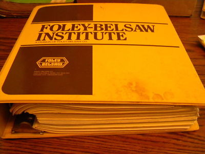 1984 FOLEY BELSAW SMALL ENGINE REPAIR SERVICING COURSE