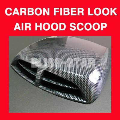 Car carbonfiberlook Air Scoop Bonnet Vent Cover 027 A