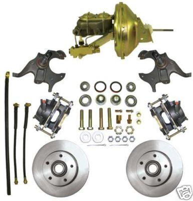 2″ Drop Spindle, Full Front Brake Kit 64  72 GM ABody