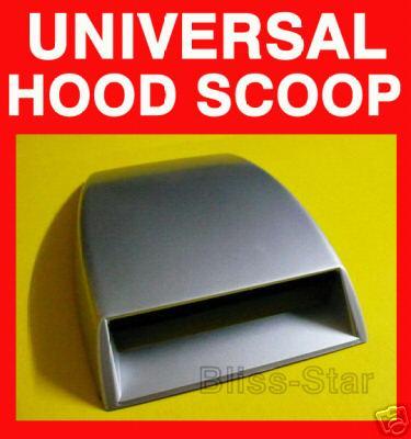 SILVER Car Subarulook Air Scoop Bonnet Vent Cover A1