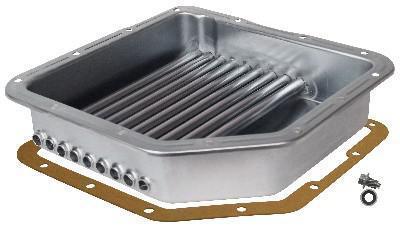Turbo 350 Tranny Cooling Pan W  Plug Derale