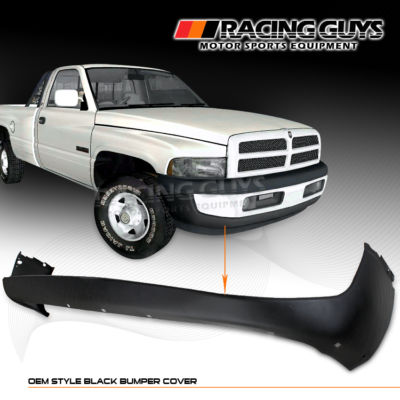 9801 DODGE RAM 1500 BLACK OEM FRONT BUMPER COVER 99 00