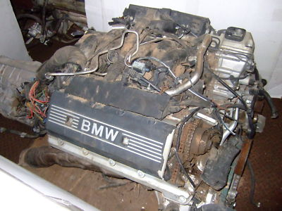 BMW M62 COMPLETE ENGINE AND TRANSMISSION NO RESERVE