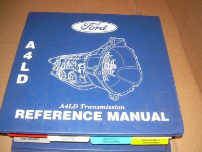 FORD A4LD AUTOMATIC TRANSMISSION SHOP REFERENCE MANUAL