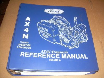 Ford Shop Manual AX4N Transaxle Volume A&B Transmission