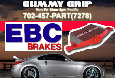EBC Red F&R Brake Pads  08 Impreza  2.5 WRX Turbo