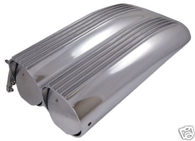 POLISHED ALUMINUM SHOTGUN STYLE HOOD SCOOP AIR ON SALE