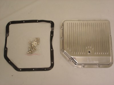 Finned Polished Aluminum GM Turbo 350 Transmission Pan