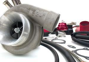 Perrin 08 STi GT3582R .82 A/R Rotated Turbo Kit RED