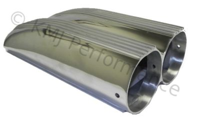 Polished Aluminum Shotgun Air Intake Scoop Finned Carb