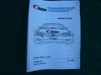 TSI EXTREME TURBO KIT for 01  05 HONDA CIVIC