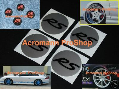 RS Cap Decal sticker center Wheel Porsche GT3 turbo 911