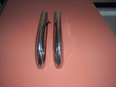 FORD 1965 1966 MUSTANG REAR BUMPER GUARDS PAIR