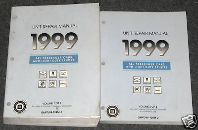 1999 GM Transmission Transaxle C/K  Service Manual Set