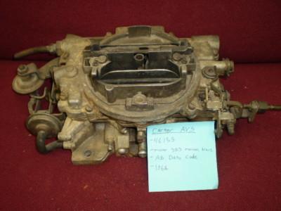 1968 Mopar Carter AVS 4615S 383 Manual Transmission