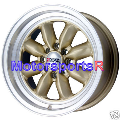16 7 XXR Wheels 513 Gold 87 AE86 90 05 Miata 84 91 E30