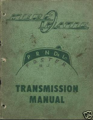 MERCURY MERC O MATIC TRANSMISSION MANUAL  ON CD