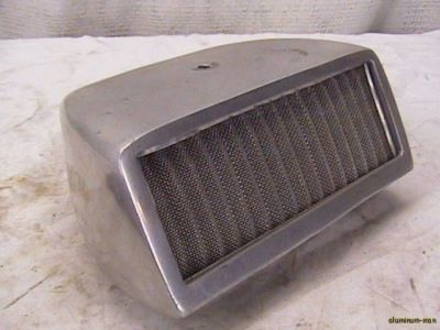 Vintage Marine 4 bbl. Alum. Carb Air Hood Scoop Cleaner