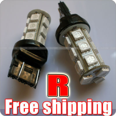 2x RED T20 7443 18 5050 SMD LED Turn Brake Lights Bulbs