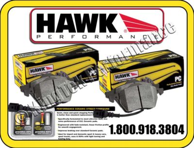 Hawk Ceramic F&R Brake Pads 0204 DODGE INTREPID ES 3.5