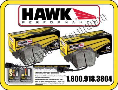 Hawk Ceramic F&R Brake Pads 0508 BUICK LACROSSE CXL 3.