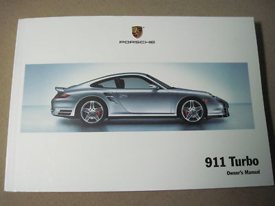 2008 PORSCHE 911 TURBO OWNERS MANUAL WITH NAVIGATION