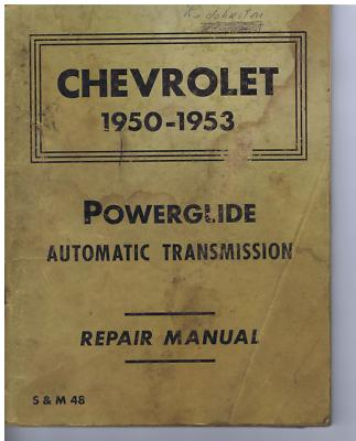 1950 53 Chevrolet Powerglide Transmission Repair Manual