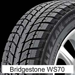 2  195/6515 BRIDGESTONE BLIZZAK WS70 Winter Tires