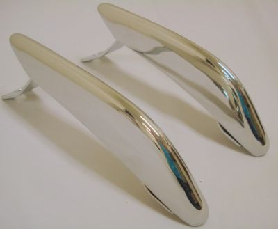 64 65 66 Ford Mustang Rear Bumper Guard Chrome Pair