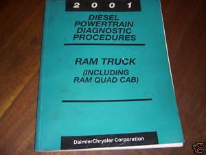 2001 DODGE TRUCK SHOP MANUAL CUMMINS 5.9L TURBO DIESEL