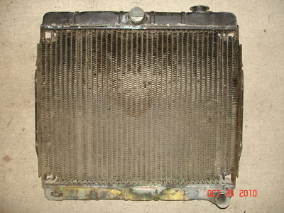 6671 JEEPSTER COMMANDO V6 225 ENGINE RADIATOR, MANUAL