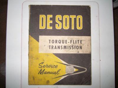 DE SOTO TORQUEFLITE TRANSMISSION SERVICE MANUAL MOPAR