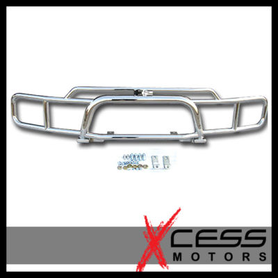 0308 09 HUMMER H2 LOGO CHROME BRUSH GRILLE GUARD GRILL