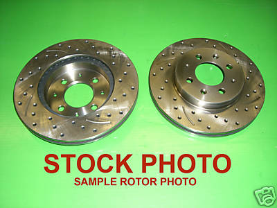 9296 CADILLAC SEVILLE Fr Drilled Slotted Brake Rotors