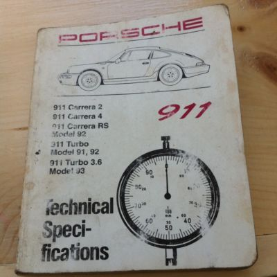 Porsche 911 C2,C4 RS Turbo 3.6 Tech Spec Book