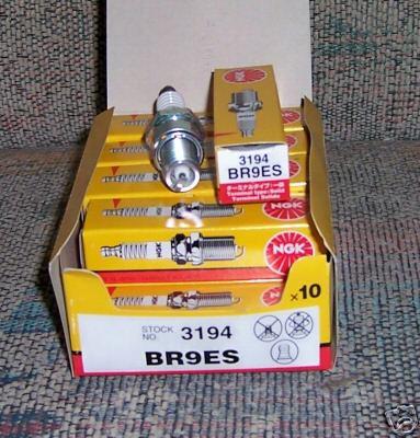 2 ten packs of NGK spark plugs BR9ES