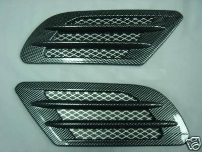 Car HOOD FENDER AIR Scoop Decorative Vent Cover CARBON