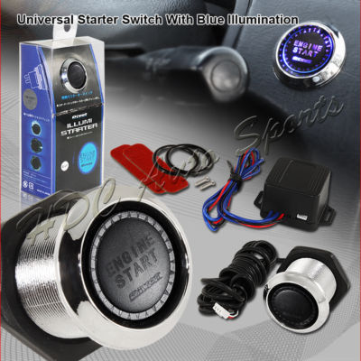 Universal Engine Starter Switch With Blue Illumination