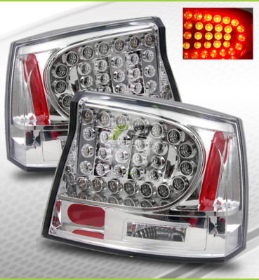 0608 Dodge Charger Chrome LED Tail Lights Brake Lamps